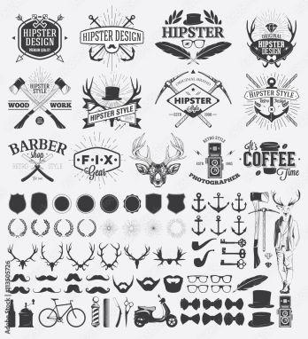 Poster Hipster Style Design Elements And Vintage Labels Fotos4art De