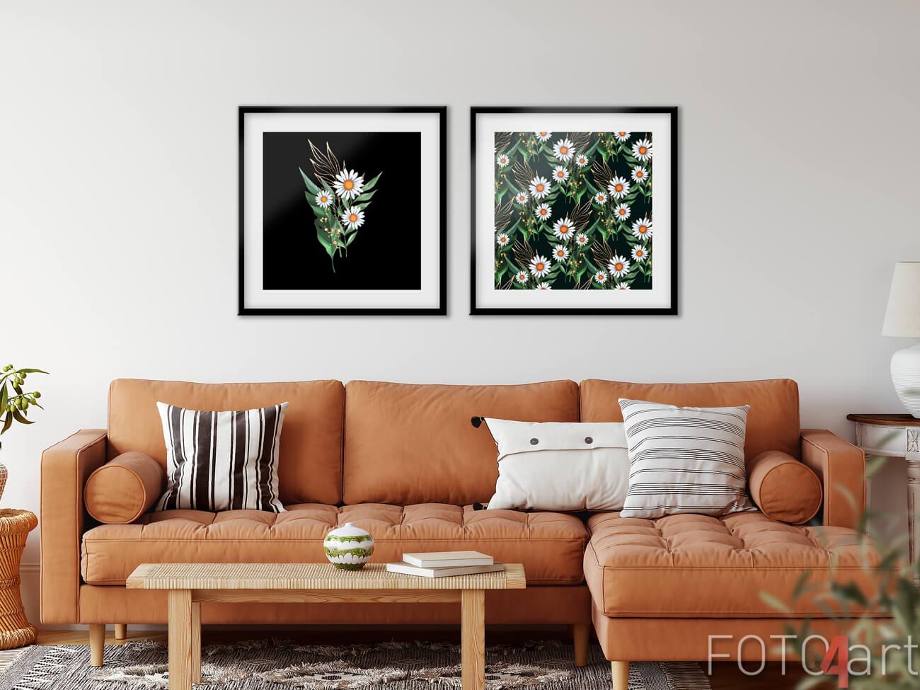 Poster mit Blumen