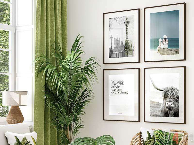 Bilder mit Rahmen Wenn wir uns haben, haben wir alles, Vektor, Wording-Design, Schriftzüge, Wandtattoos, Wandkunstdekor, Wandkunstwerke, Posterdesign, Liebeszitate