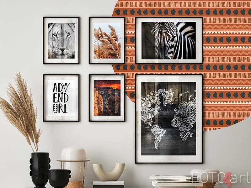Bilder mit Rahmen Löwenportrait