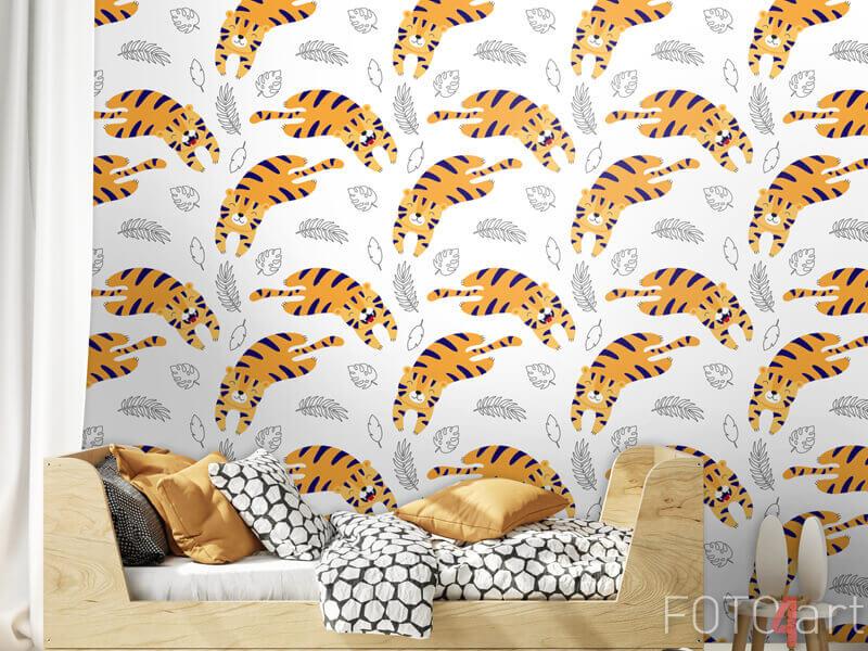 Tapeten - Süße Tiger