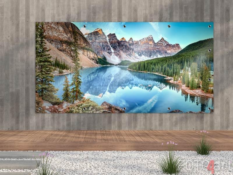 Foto auf Gartenposter - Moränensee-Panorama in Kanada
