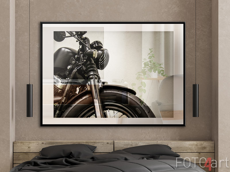 Poster Im Rahmen - Vintage-Motorrad
