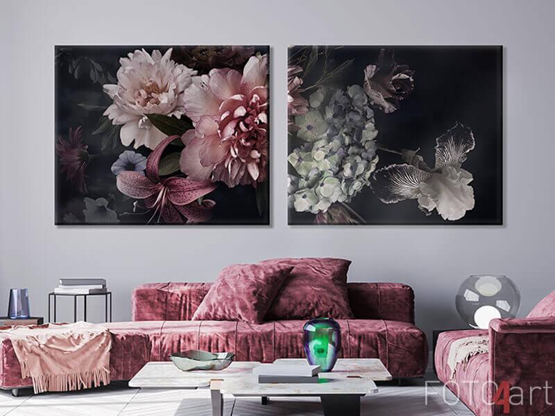 Foto auf Leinwand - Blumenhintergrund