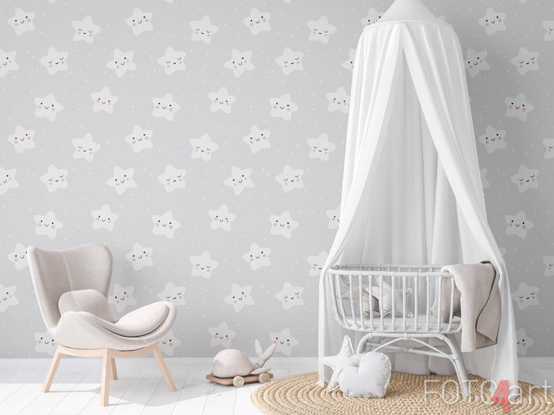 Tapeten - Baby nahtloses Muster