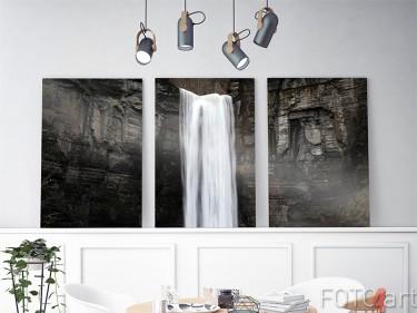 Wasserfall auf einem 3-Teiliger Aluminium