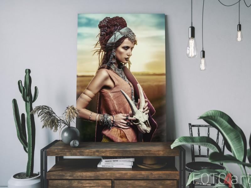 Leinwand mit Foto von Zigeuner in der Wüste