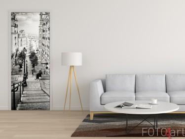 Schöner Türsticker mit Foto Straßen von Paris