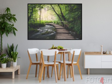Esszimmer mit Foto Wald auf Poster