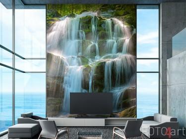 Wasserfall auf Fototapete