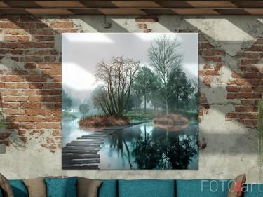 Garten Poster mit See