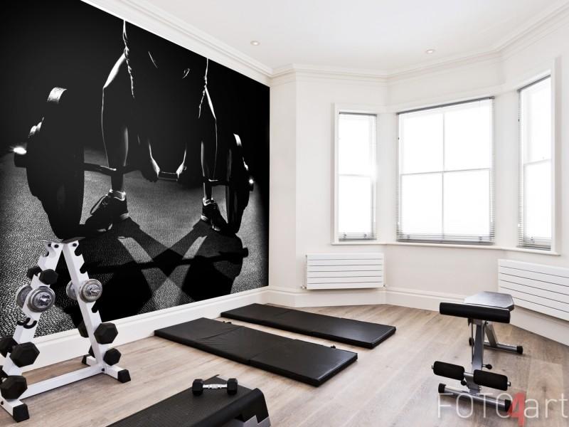Fitness Ruimte met Fotobehang Krachttraining