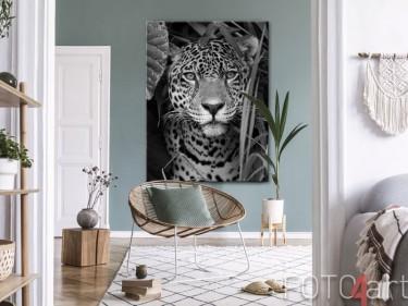 Jaguar auf Leinwand