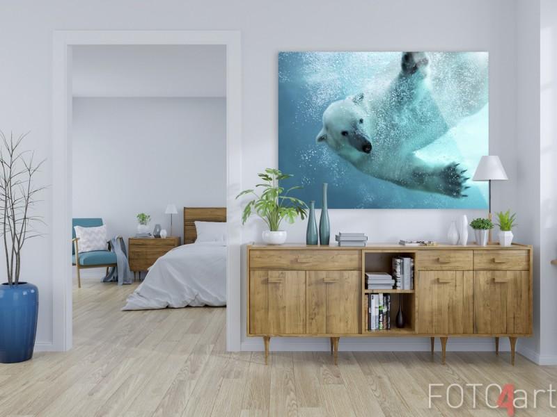 Foto auf Plexiglas Eisbär Unterwasser