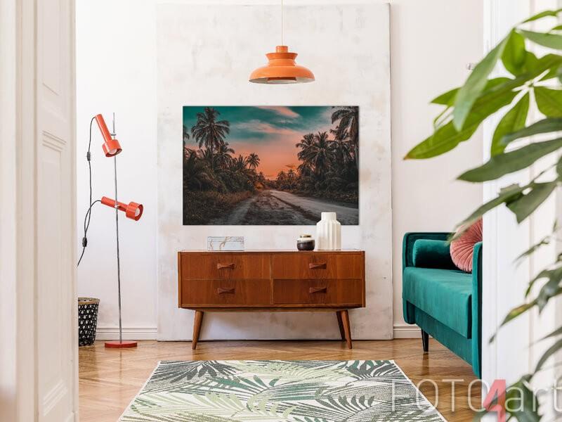Poster mit Palmen