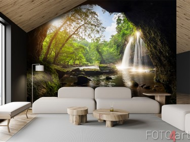 Fototapete Wasserfall