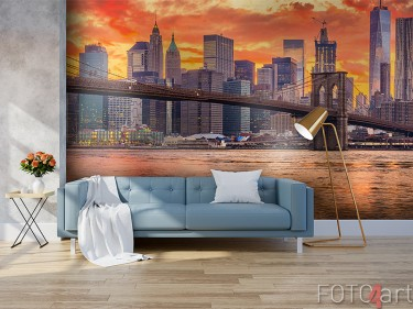 New York Skyline auf Fototapete
