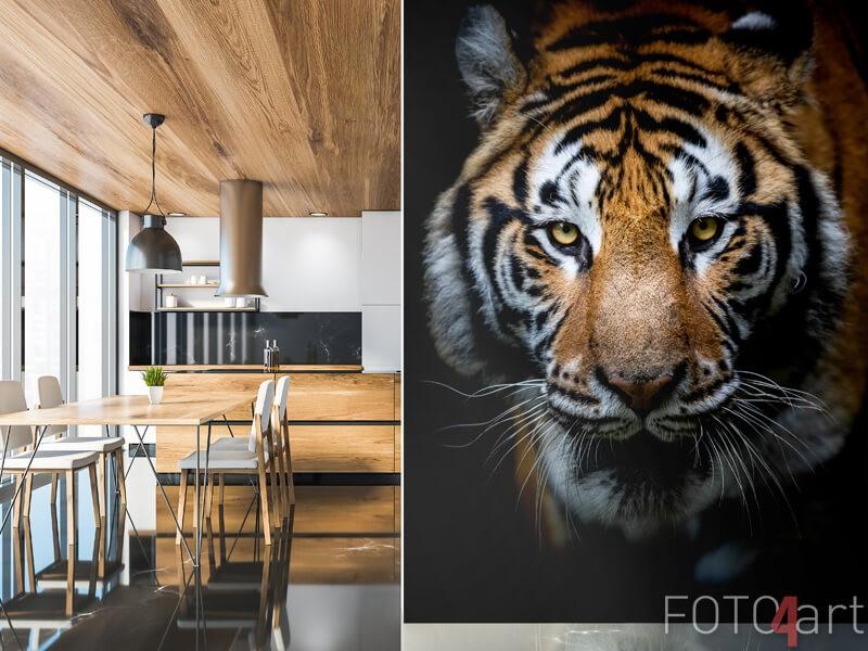Tiger auf der fototapete