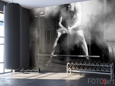 Abwaschbare Fototapete Gewichtheben
