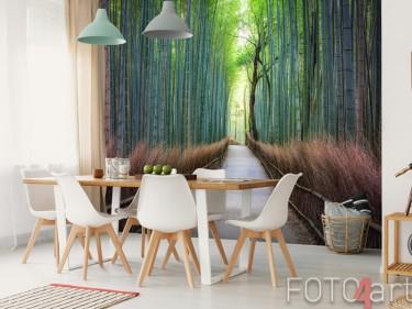Bambuswald auf Fototapete