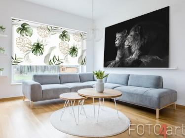 Fotorollo mit tropischen Blättern
