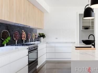 Glas Küchenrückwand mit Foto Tee