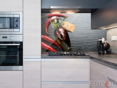 Küchenrückwand Glas Chilischoten