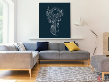 Illustration auf Aluminium Geometric Deer