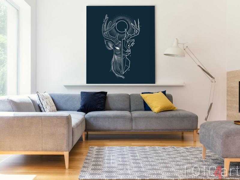Illustration auf Aluminium Geometric Deer