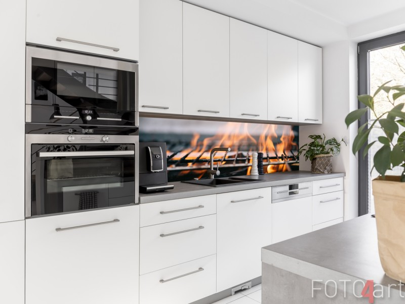 Küchen Foto Rückwand Brennholz