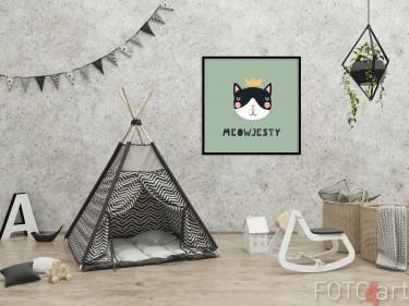 Kinderzimmer mit Illustration auf Poster