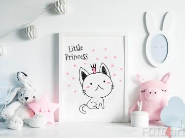 Kinderzimmer mit Poster Abbildung Katze