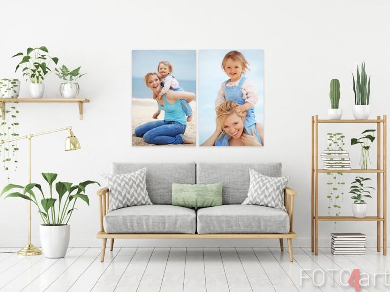 Muttertag - Foto auf Alu-dibond