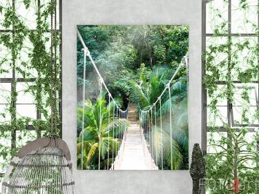 Dschungel-Seilbrücke auf Acrylglas