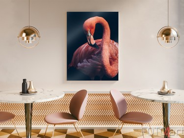 Flamingo auf Acrylglas
