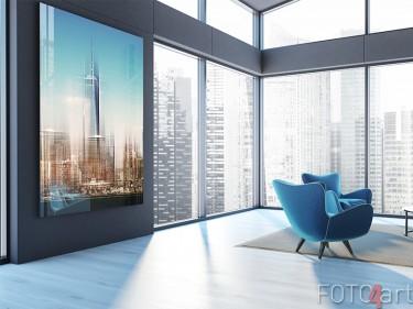 New York Skyline auf Acrylglas