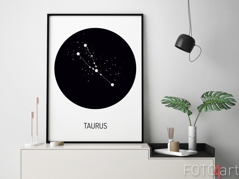 Poster mit Sternzeichen Stier