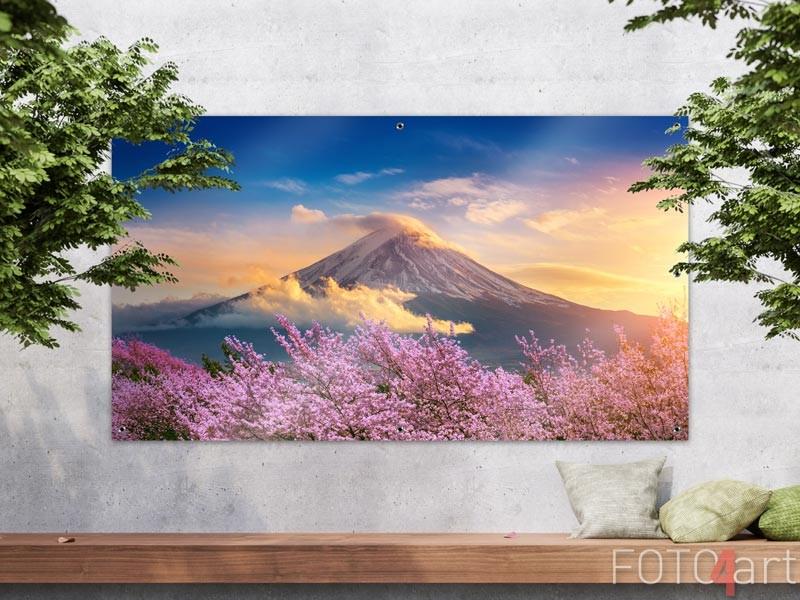 Garten Poster Fuji Berge