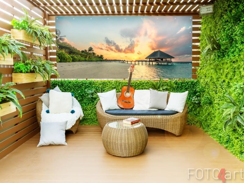 Gartenposter mit Foto Tropischem Strand