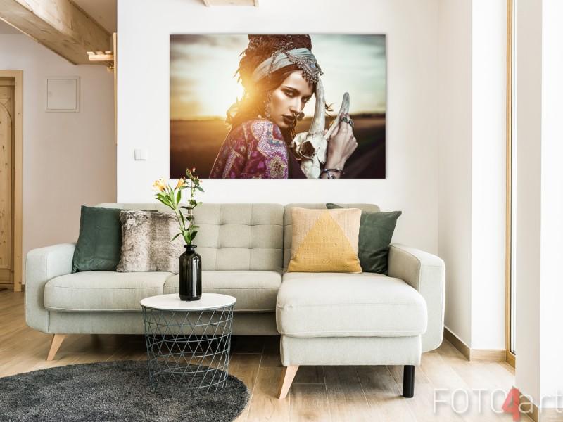Wohnzimmer mit Gypsy Foto auf Aluminium