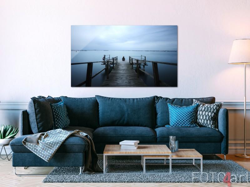 Wohnzimmer mit Foto auf Plexiglas Pier