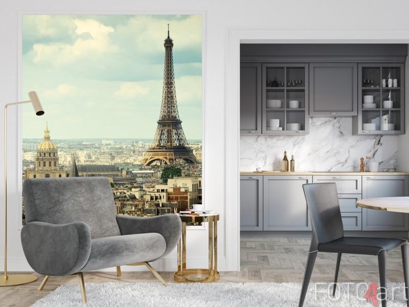 Sitzecke mit Wandaufkleber Paris