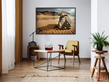 Sitzbereich mit Poster Zebra
